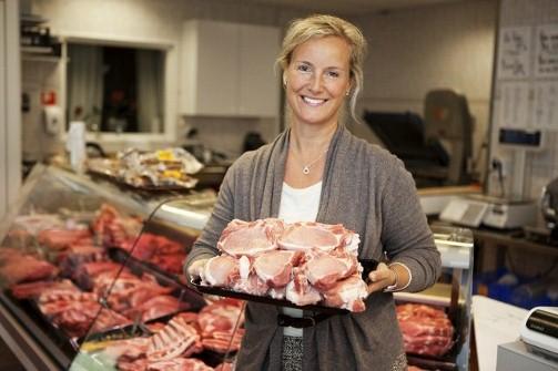 Annika Bergman,  ordförande för Sveriges grisföretagare